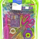Sewing Repair Mend Kit Scissor Needle Thread Buttons Pins Lime Case Dritz New
