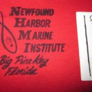 VTG NEWFOUND HARBOR MARINE INSTITUTE BIG PINE KEY FL RED TSHIRT Mens M TIGHT FIT