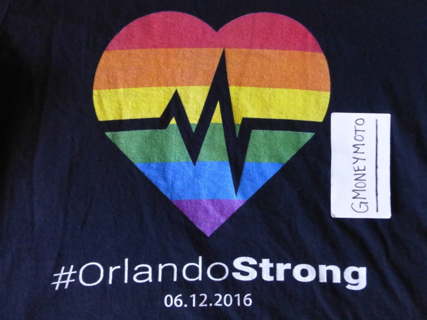 #ORLANDO STRONG LGBTQ UNITY PULSE REMEMBRANCE BLACK T-Shirt Mens X-SMALL MUSCLE