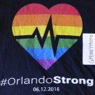 #ORLANDO STRONG LGBTQ UNITY PULSE REMEMBRANCE BLACK T-Shirt Mens X-SMALL MUSCLE