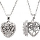 Sterling Silver #1 Mom CZ Filligree Locket Necklace-Nickle Free-FREE SHIPPING