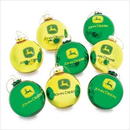 John Deere Tractor Glass Christmas Decorating Bulbs-Set of 8 FREE SHIPPING