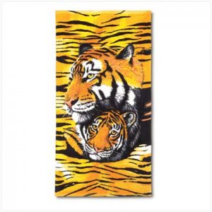Golden Tigers Beach Towel-FREE SHIPPING