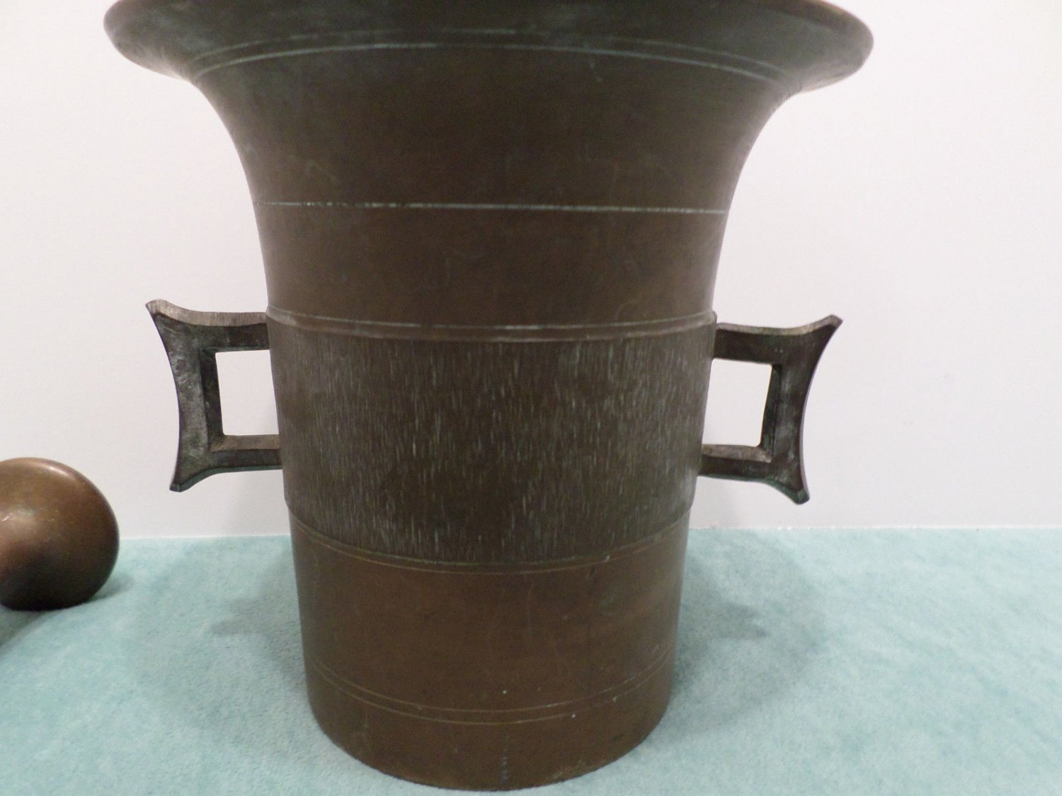 Antique Mortar and Pestle Bronze Medical Pharmaceutical