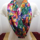 Womens Scarf Wrap Multi Colored 100% Polyester