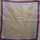 Vintage Ladies Scarf 100% Silk Made in Italy Tan Blue Pink Burgundy Black