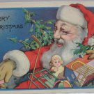 Antique Christmas Postcard Santa Claus with Toys Unposted Divided