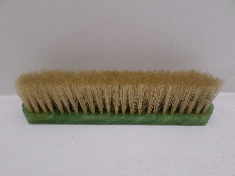 Antique Shoe Brush Green Bake Lite