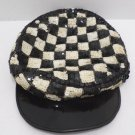 Cabbie Hat Black and White Checkered by The Accessory Look in India