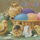 Antique Easter Postcard Baby Chicks Eggs Embossed Posted Divided