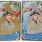 Antique George Washington Postcards Embossed Unposted Divided