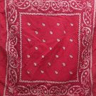 Vintage Bandana Scarf 100% Cotton Paris Accessories Made in USA Paisley