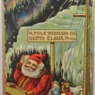 Christmas Postcard Santa Claus North Pole Wireless Company Glossy