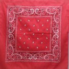 Scarf Bandana Style 50% cotton 50% Polyester RN 97467 Red with Paisley Design