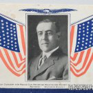 Antique Postcard President Woodrow Wilson Divided Posted