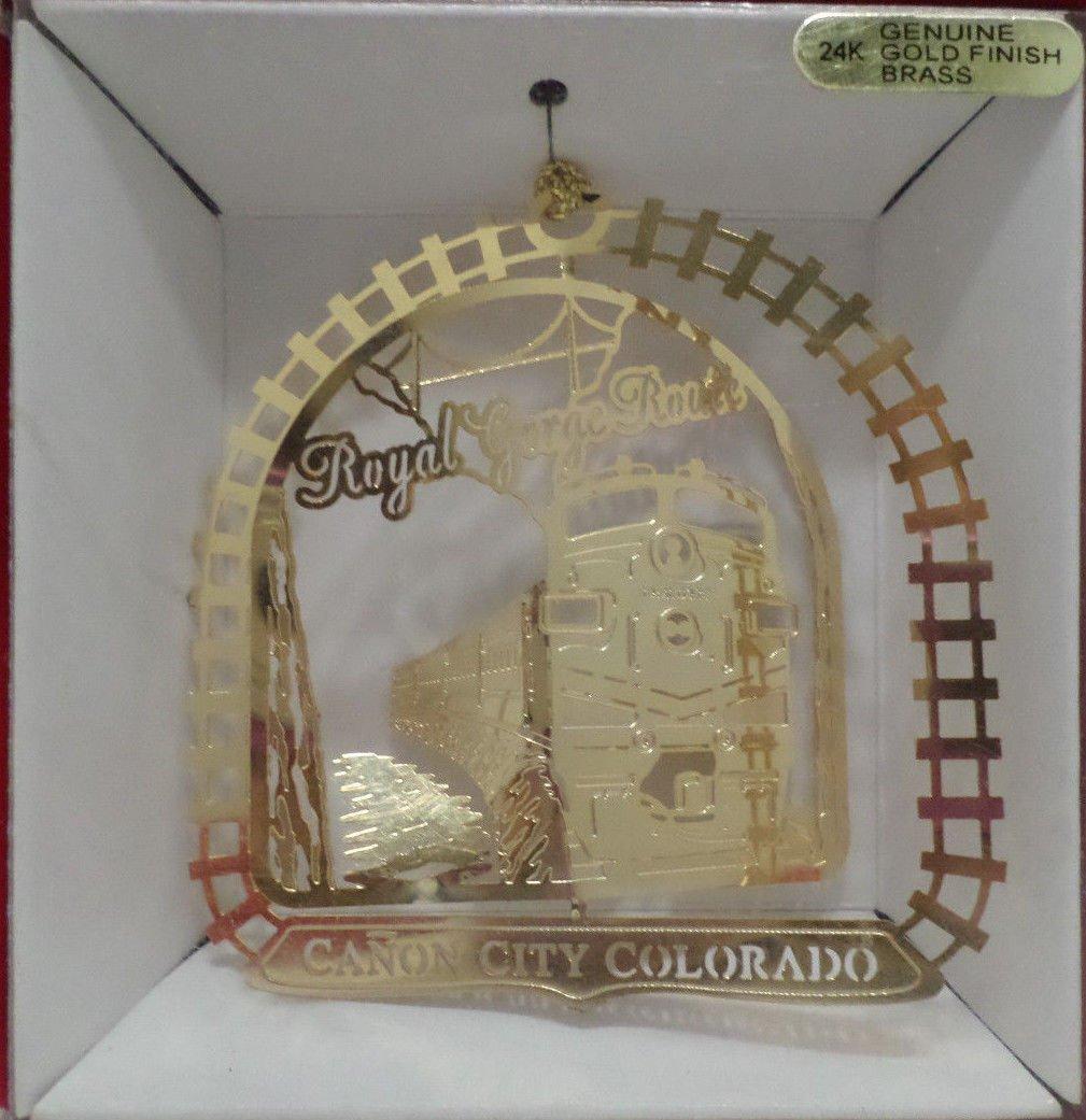 Nation's Treasures Ornament Royal Gorge Route Canon City Colorado 24K Over Brass