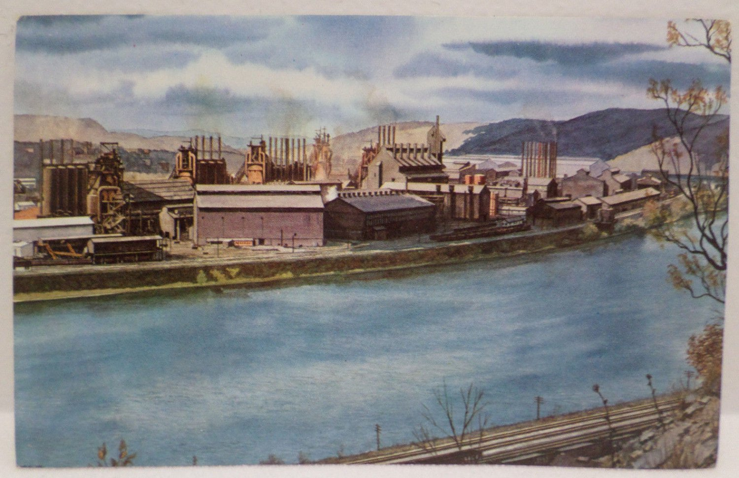 Real Photo Postcard The Pittsburgh and Lake Erie Railroad Company Unposted