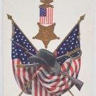 Antique Patriotic Postcard USA Flag Memorial Day Unposted Undivided