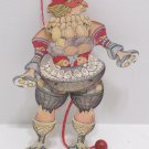 Vintage Puppet Wooden Chicken Man Easter
