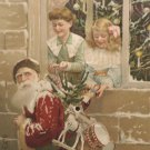 Antique 1908 Santa Claus Christmas Postcard Mechanical Squeeze Card