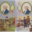 Antique George Washington Postcards Washington and Lafayette at Valley Forge