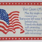 Antique Patriotic Postcard U.S. Flag Independence Day Embossed Unposted Divided