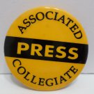 Vintage Pinback Button Pin Associated Press Collegiate Metal