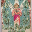 Antique Christmas Postcard Angels Embossed Unposted Divided