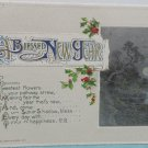 Antique 1912 New Year Postcard by John Winsch Germany Divided Posted Embossed