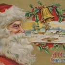 Antique Christmas Postcard Santa Claus Embossed Unposted Divided