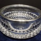 Clear Crystal Serving Bowl with Silver Plated Rim