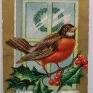 Antique Christmas Postcard Christmas Bird Series Embossed Posted USA