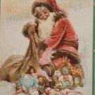 Antique Christmas Postcard Santa Claus Picking up Toys Frances Brundage