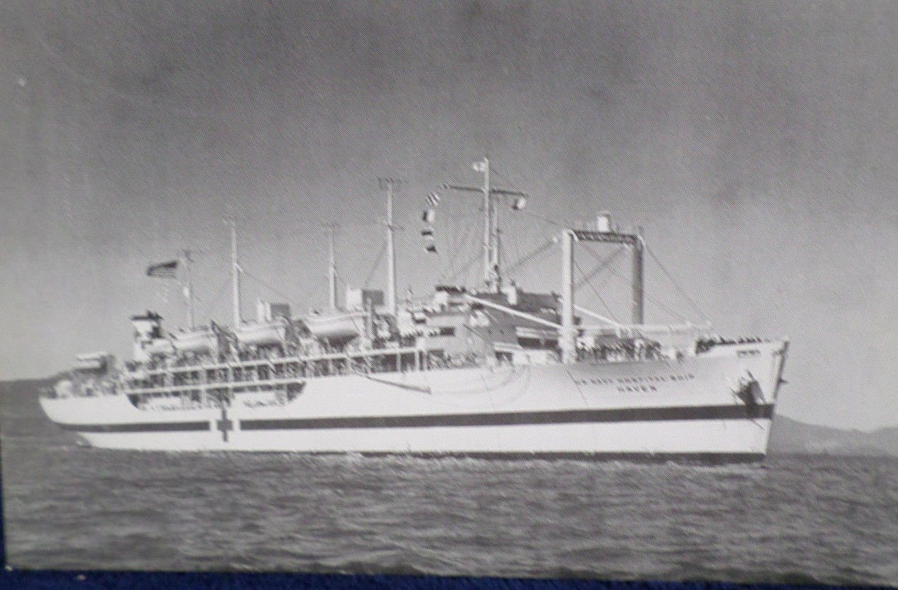 USS Haven AH 12 Military Ship Real Photo Postcard Official U.S. Navy NEW
