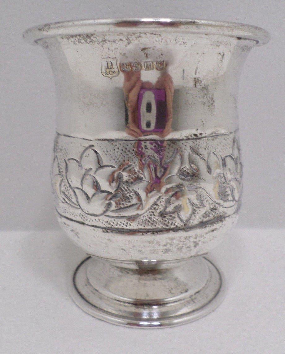 Antique  Flower vase or Jardiniere Silver Plated Hallmarked
