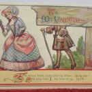 Antique Valentine Postcard by John Winsch Germany Divided and Unposted