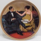 1983 Collector Plate Flirting in the Parlor by Norman Rockwell #6719A