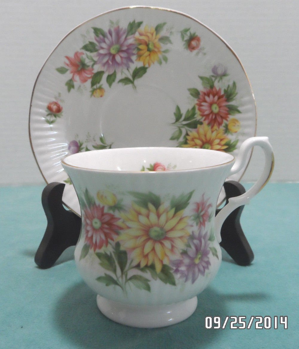 Tea Cup and Saucer Bone China Royal Dover made in England