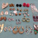 Earrings Mixed Lot of  23 Pairs Pierced and Screw Back Costume Jewelry