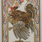 Antique Thanksgiving Postcard Uncle Sam as a Turkey  Unposted Divided
