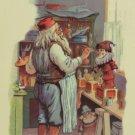 Christmas postcard Santa Claus Painting Toys Replica of the original