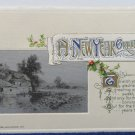 Antique 1912 New Year Postcard by John Winsch Germany Divided Unposted