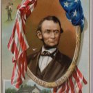 Antique Postcard President Abraham Lincoln posted  Divided Raphael Tuck & Sons