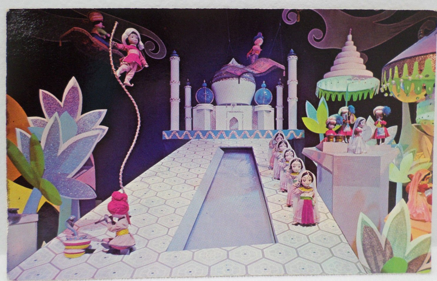Disneyland Postcard Its a Small World in Fantasyland Unposted Unused Divided USA