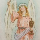Antique Easter Postcard Angel Unposted Divided