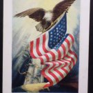 Antique Patriotic Postcard My Flag and Your Flag Unposted Divided