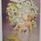 Antique 1916 Valentine Postcard Cupid Embossed Divided and Unposted