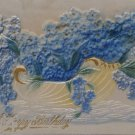 Antique Birthday Postcard Flowers Germany Embossed Posted Divided