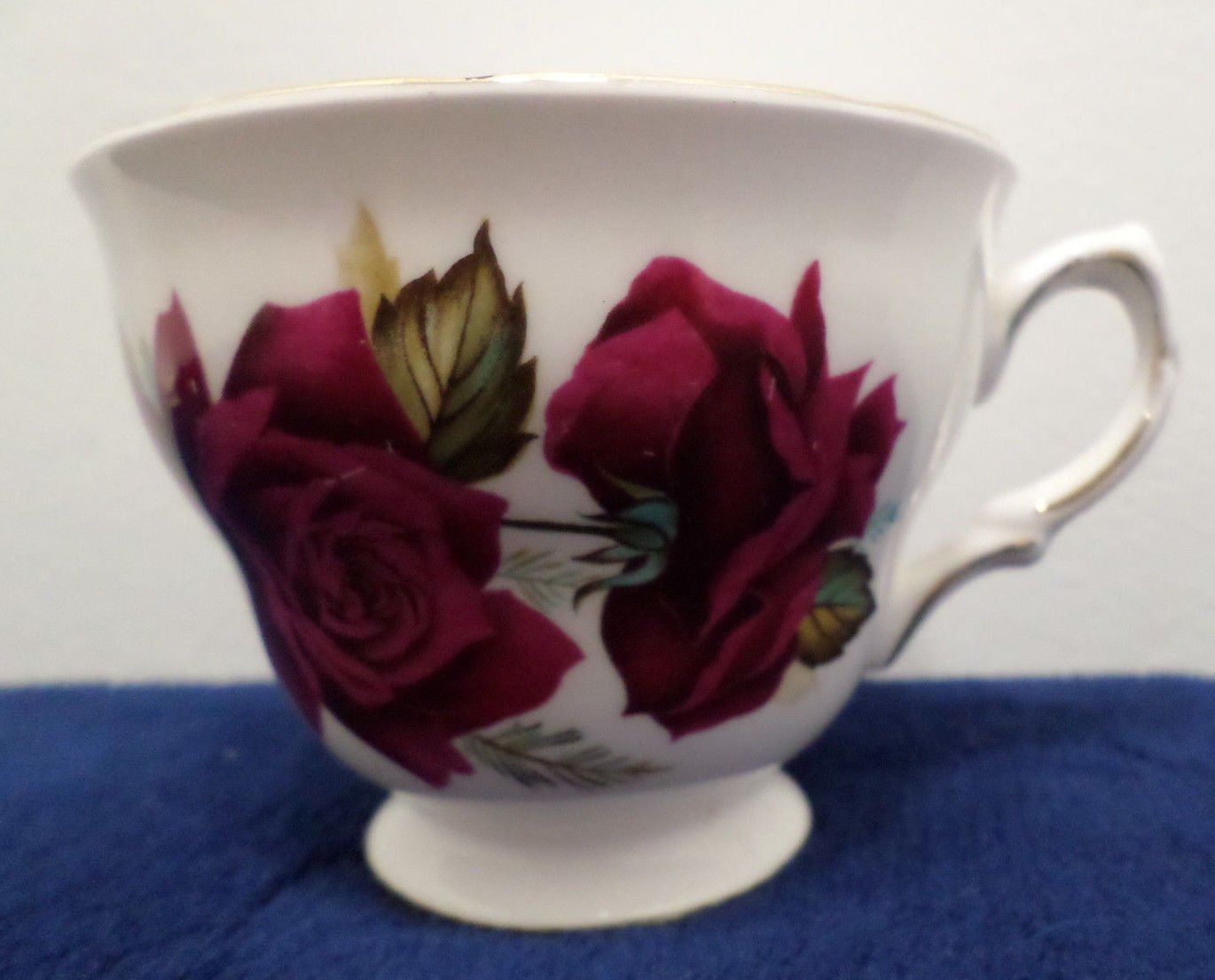 Royal Vale Bone China Tea Cup  Accented in 22K Gold made in England