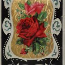 Antique Birthday Postcard Pink and Red Roses Divided posted Glossy Germany